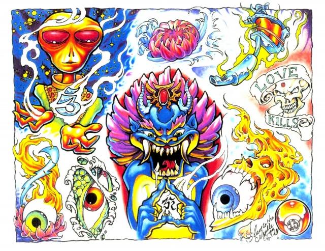 эскизы татуировок цветные (7)