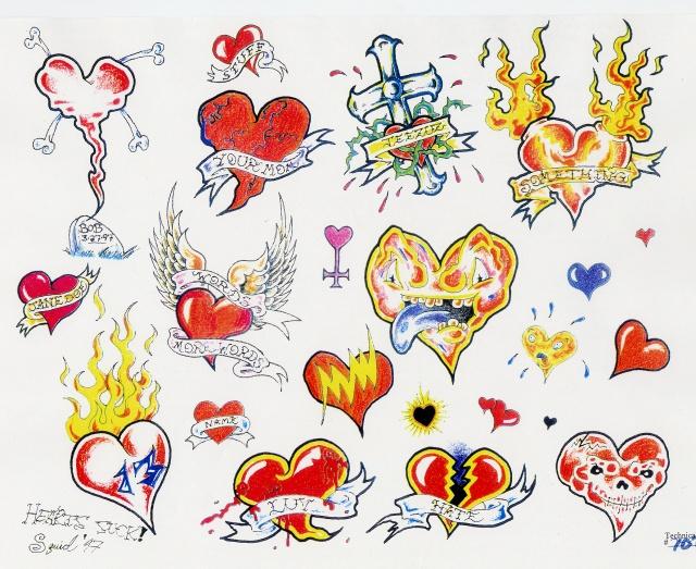 эскизы татуировок сердце