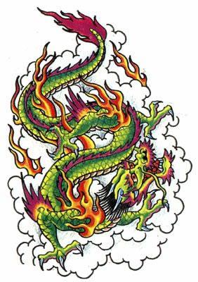тату дракон (16)