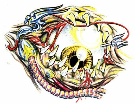 татуировки эскизы демонов (19)