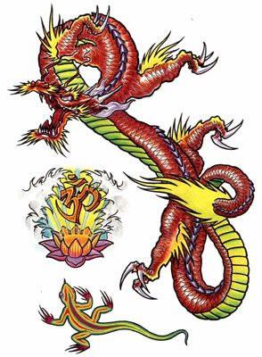 тату дракон (15)