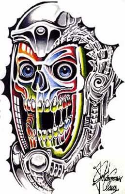 татуировки эскизы демонов (24)