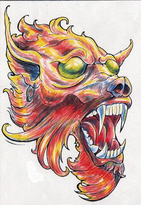 татуировки эскизы демонов (23)