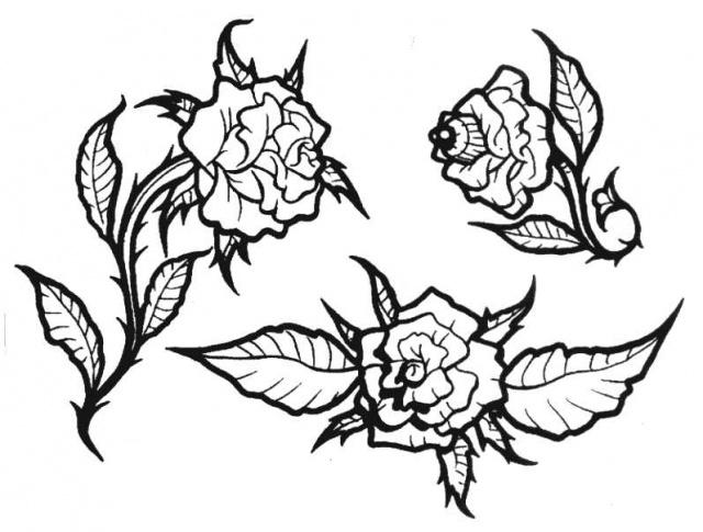 татуировки эскизы цветов (12)