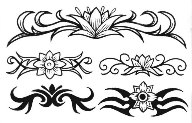 татуировки эскизы цветов (10)