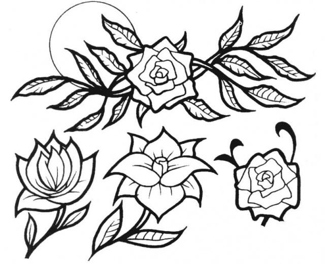 татуировки эскизы цветов (9)