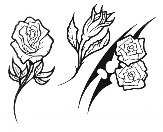 татуировки эскизы цветов (8)