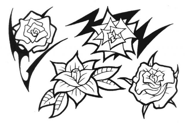 татуировки эскизы цветов (7)