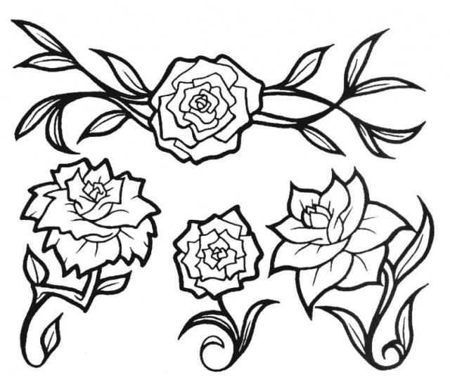 татуировки эскизы цветов (6)