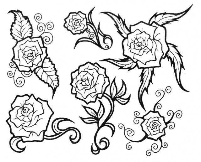татуировки эскизы цветов (5)