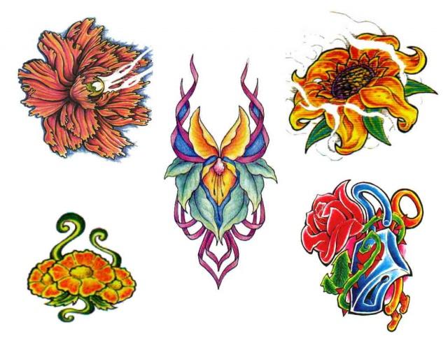 татуировки эскизы цветов (4)
