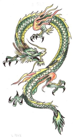 тату дракон (13)