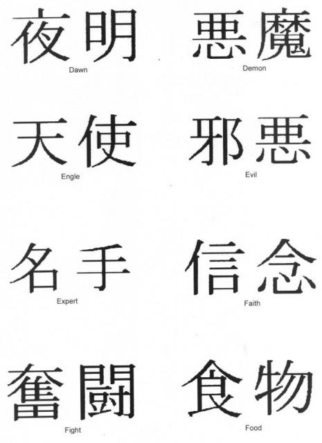татуировки иероглифы и их значение