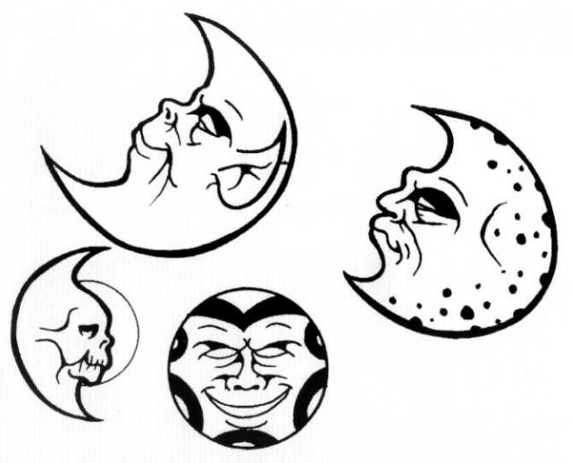 луна татуировка