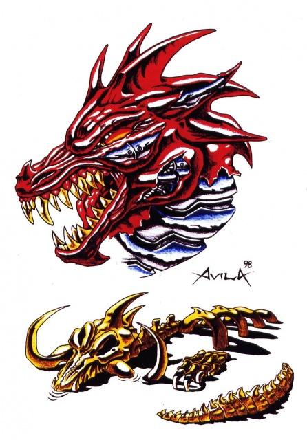 эскизы татуировок цветные (3)