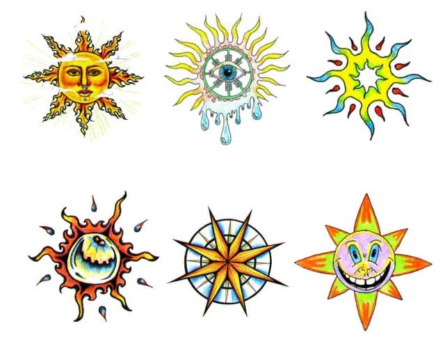 татуировки солнца