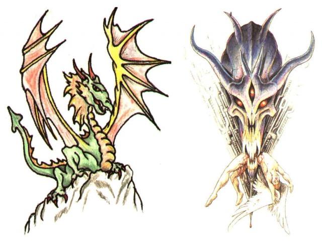 тату дракон (3)
