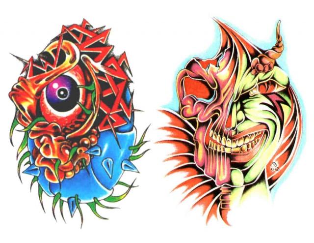 татуировки эскизы демонов (5)