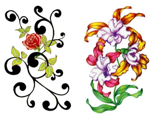 татуировки эскизы цветов (2)