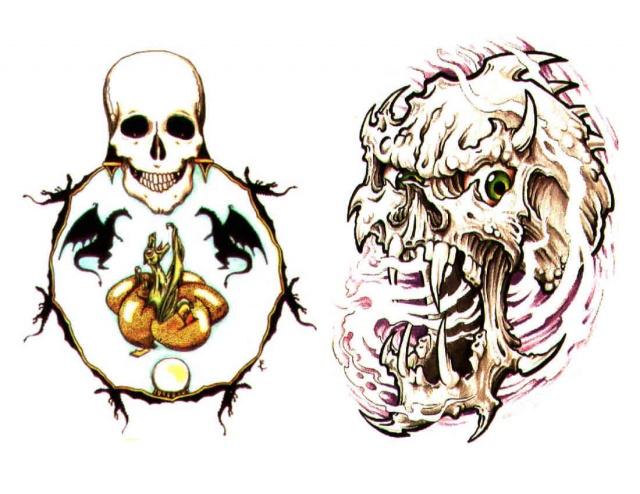 татуировки эскизы демонов (3)