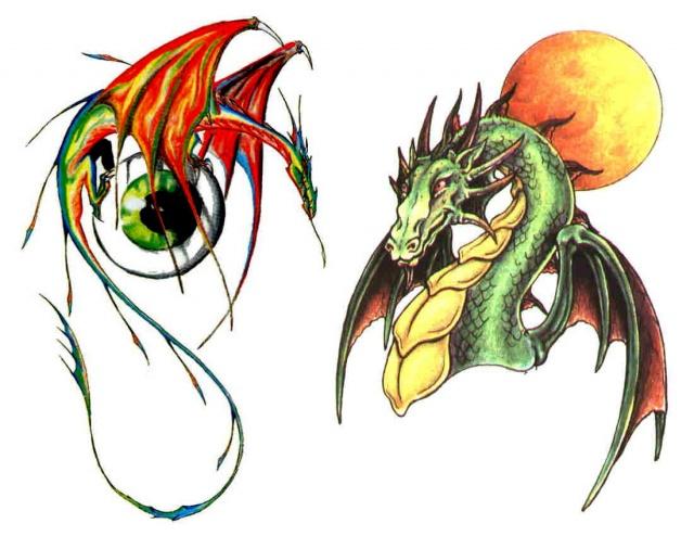 тату дракон (9)