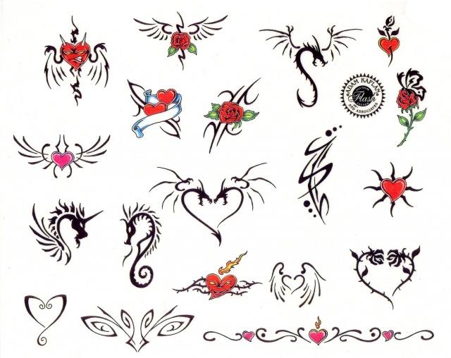 эскизы татуировок цветные (12)