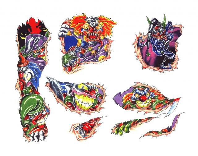 татуировки эскизы клоуны