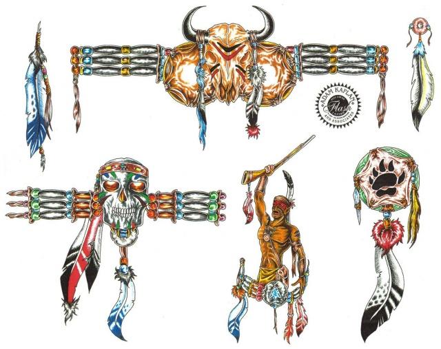 эскизы татуировок цветные (11)