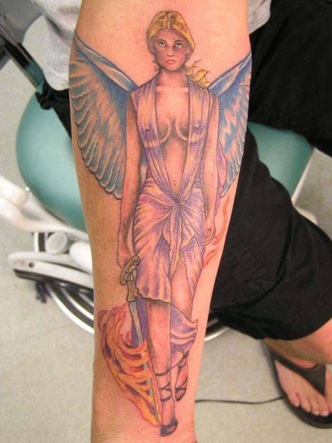 татуировки на ноге (19)