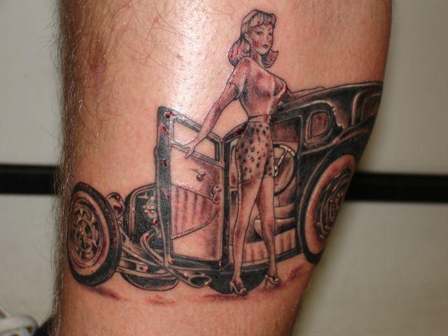 татуировки на ноге (15)