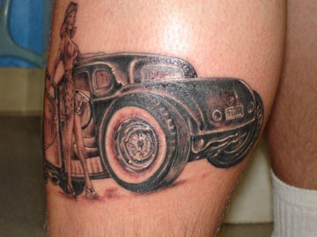 татуировки на ноге (14)