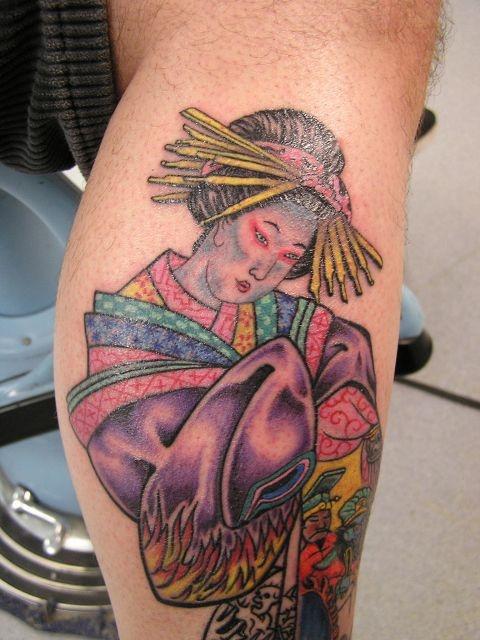 татуировки на ноге (7)