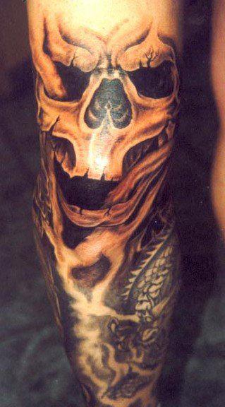 Татуировки на ногах (17)