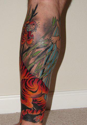 Татуировки на ногах (4)