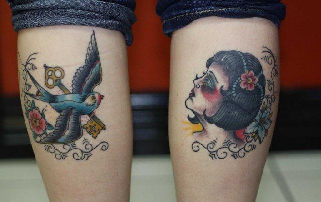 Татуировки на ногах (11)