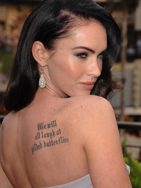 татуировки звезд Меган Фокс