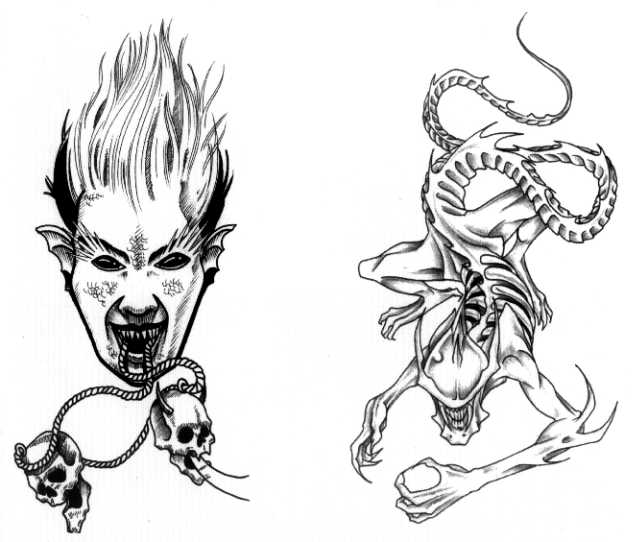 татуировки эскизы демонов (15)