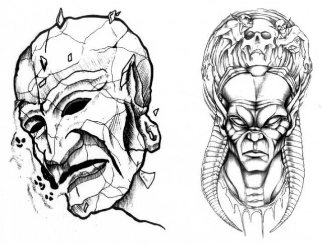 татуировки эскизы демонов (14)