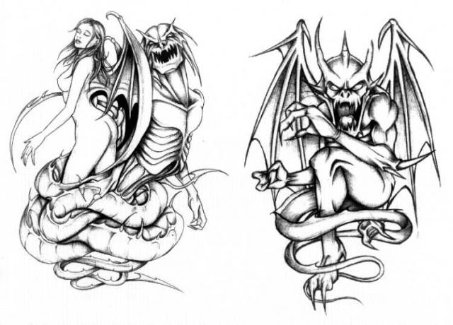 татуировки эскизы демонов (13)