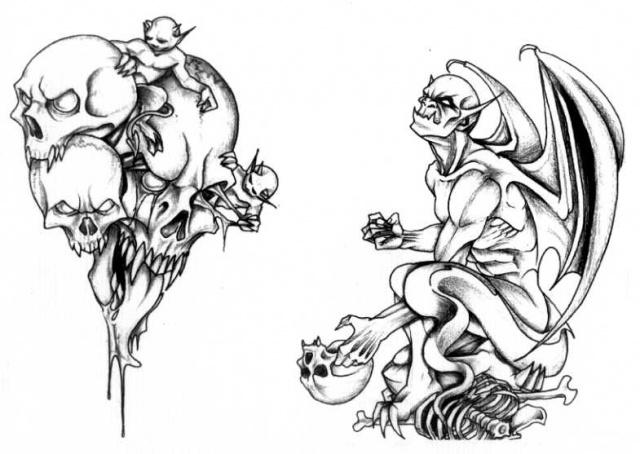 татуировки эскизы демонов (12)