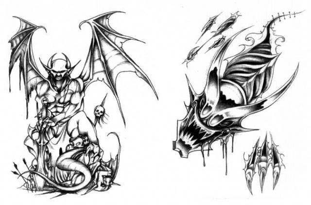 татуировки эскизы демонов (11)