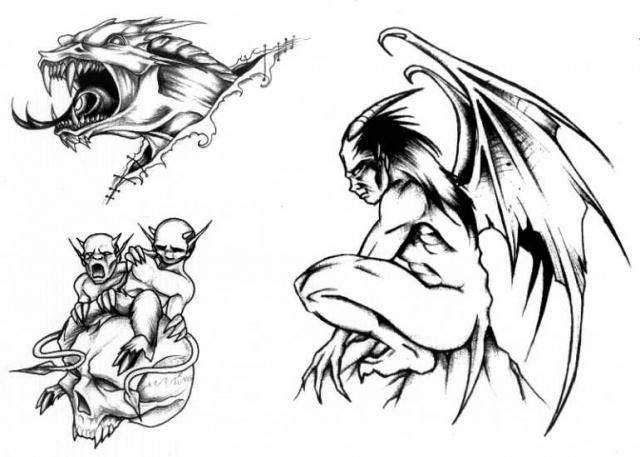 татуировки эскизы демонов (10)