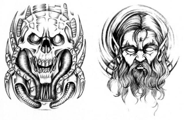 татуировки эскизы демонов (9)