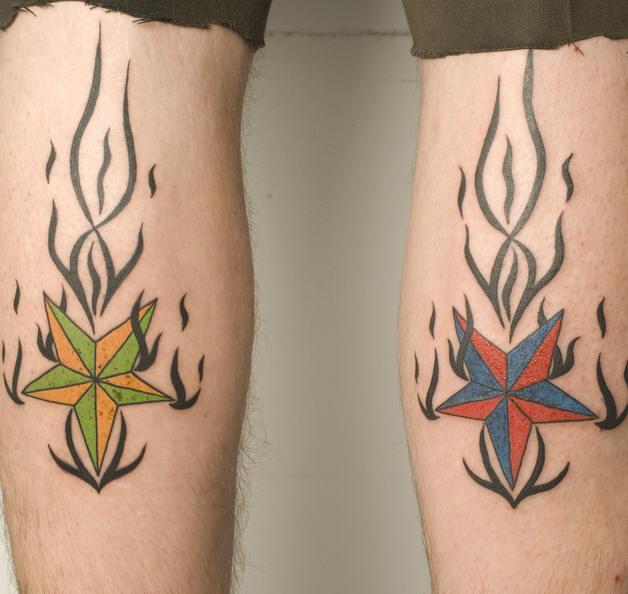 Татуировки с морскими звездами