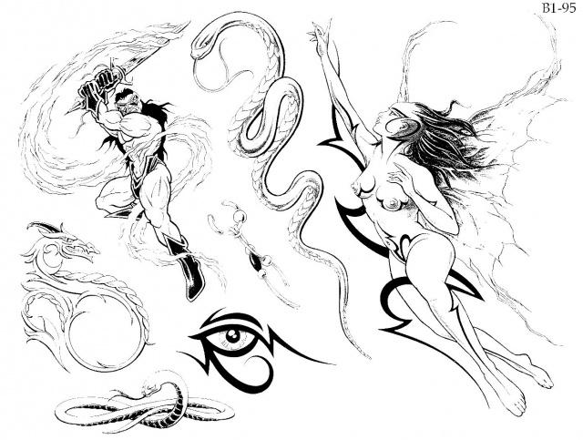 татуировки эскизы, татуировки драконов