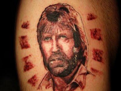 Татуировка Чак Норрис