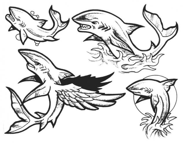 акула татуировка