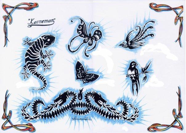 Цветные эскизы татуировок  (19)