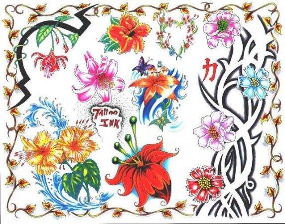 Цветные эскизы татуировок  (18)