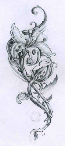 Эскизы татуировок цветы